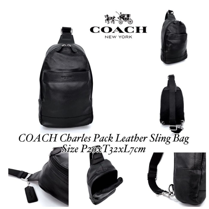 Tas Coach Grade ORI Mirror Charles Pack Leather Slingbag Crossbody 0093d766c3