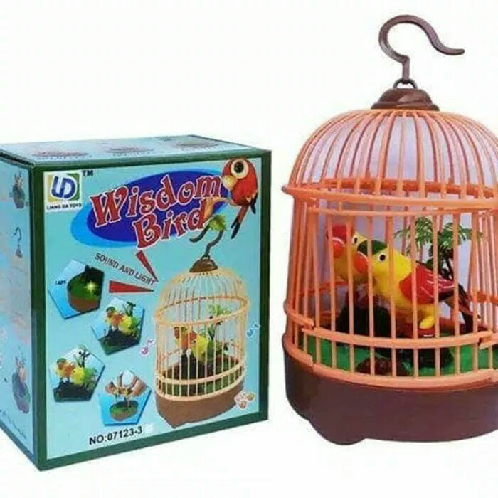 harga Mainan wisdom bird/maian burung berkicau dalam sangkar Tokopedia.com