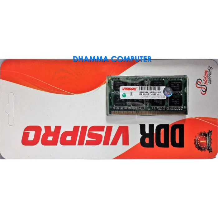 harga Memory notebook / laptop ram visipro sodimm ddr3 8gb pc12800 1600mhz Tokopedia.com