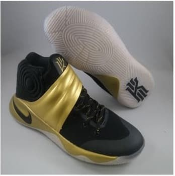 more photos 4edcf e0c13 Nike Kyrie 2 PE Black Gold Mens Kyrie Irving Finals Basketball Shoes