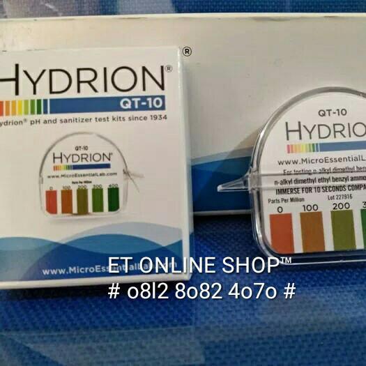 Foto Produk Hydrion QT-10 Quaternary Sanitizers Testkit | Teskit Cairan Pembersih dari easytest