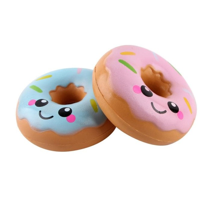 Squishy Licensed Donat Smiley 10cm SE017 By Sunny Squishy