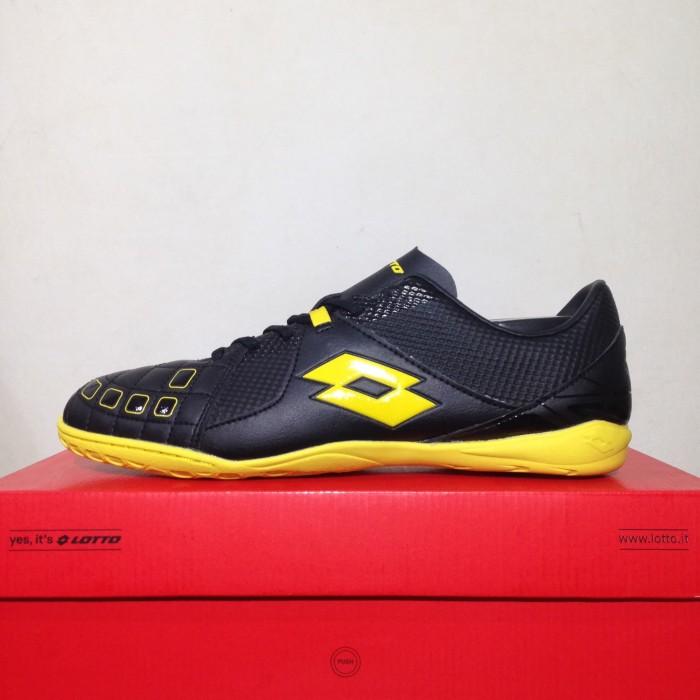 Sepatu Futsal Lotto Squadra IN Black Sunshine L01040010 Original BNIB 56f37bb997