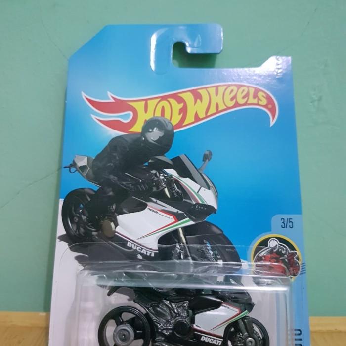 Hot Wheels HW - Ducati 1199 Panigale Hitam Putih Hotwheels Murah