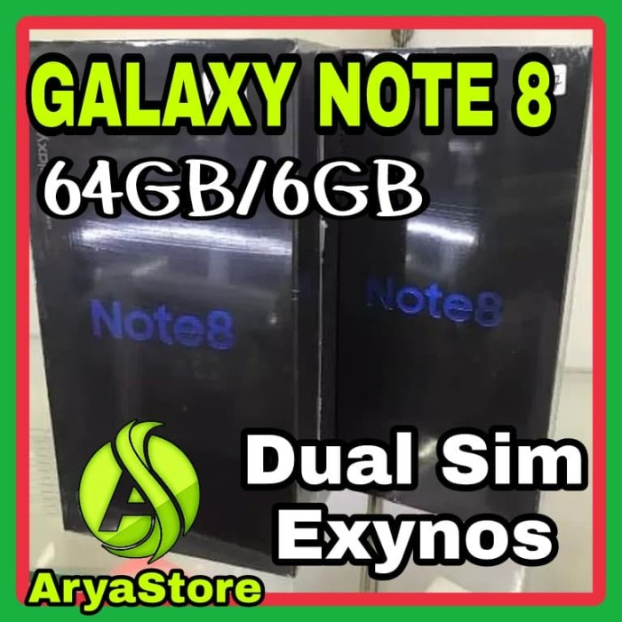 Samsung Galaxy Note 8 64GB Dual   NEW   Segel   Original   Aryastore