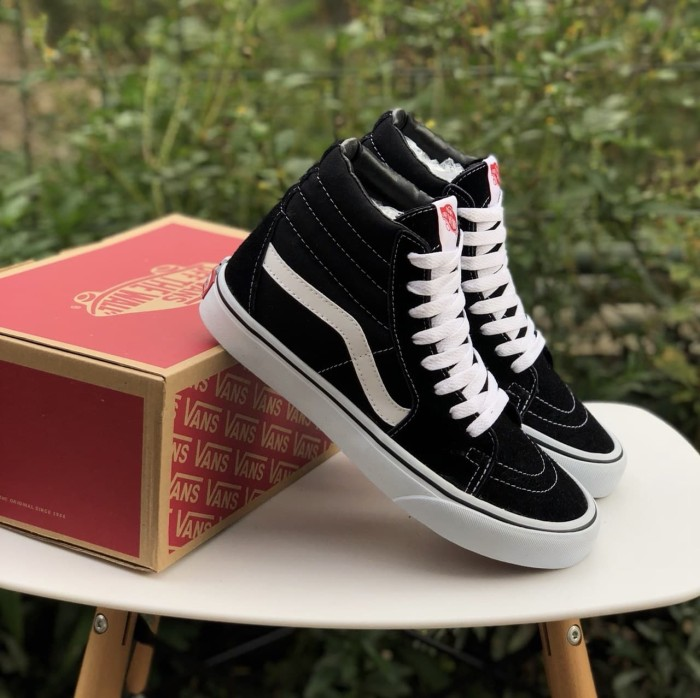 Jual sepatu vans sk8 high black cek harga di PriceArea.com 85f7e09cc4