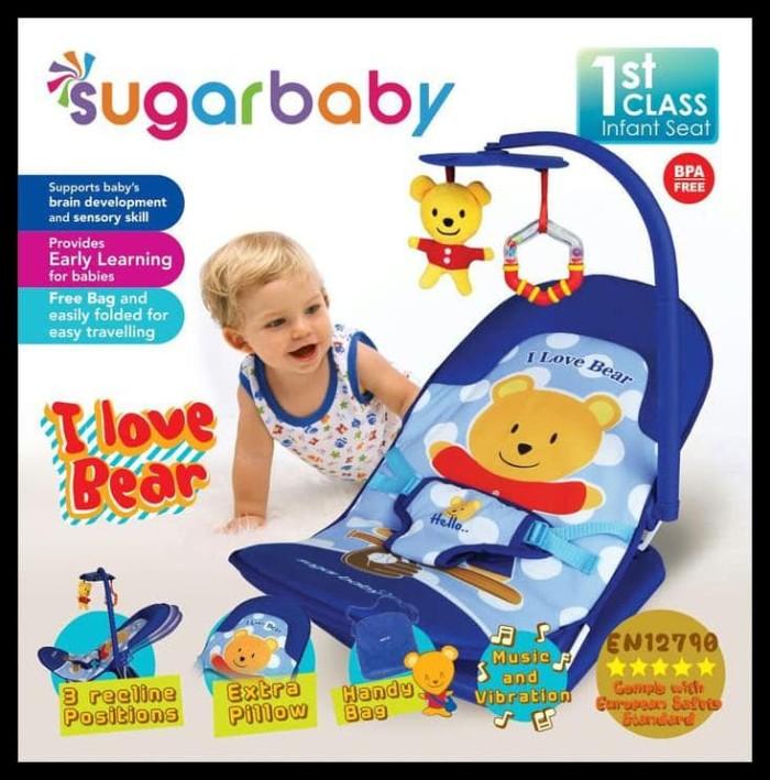 ... Bouncer Bayi Sugar Baby Infant Seat With Toy Bar I Love Bear