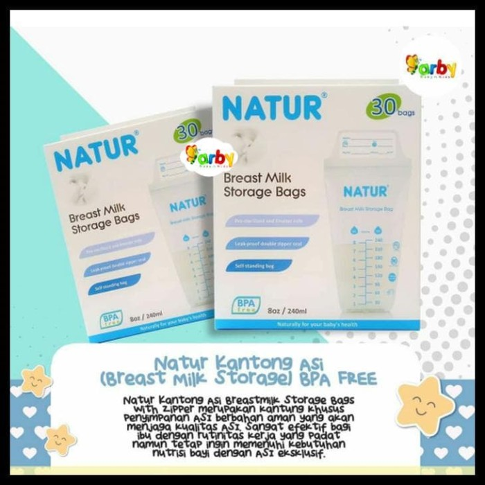 240ml 30 Bags Source · Natur Kantong Asi Breast Milk Storage Bpa Free .