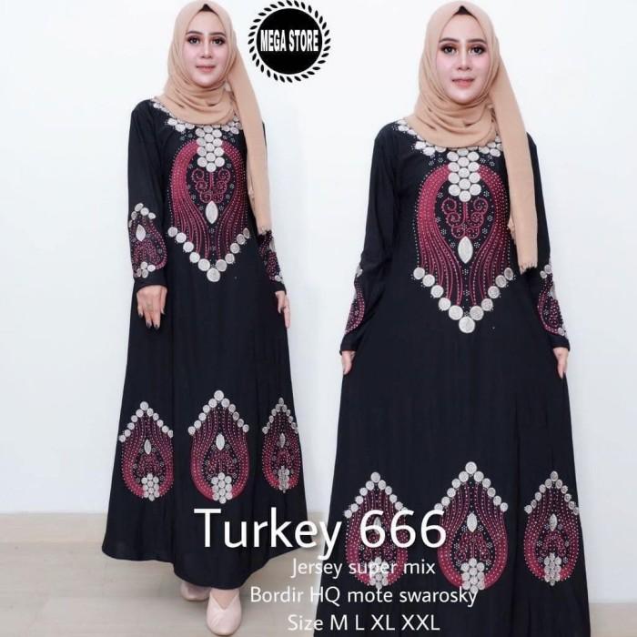 Jual Abaya Hitam Turki 666 Terbaru Gamis Hitam Busana Muslim Wanita Baariklie Tokopedia