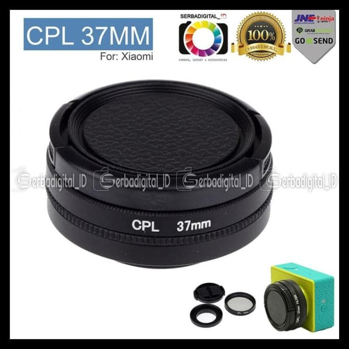 Lekai Camera Lens case for Xiaoyi Yi II 4K Sport Action Camera Proffesional CPL Filter for Sports Camera Color : Gold
