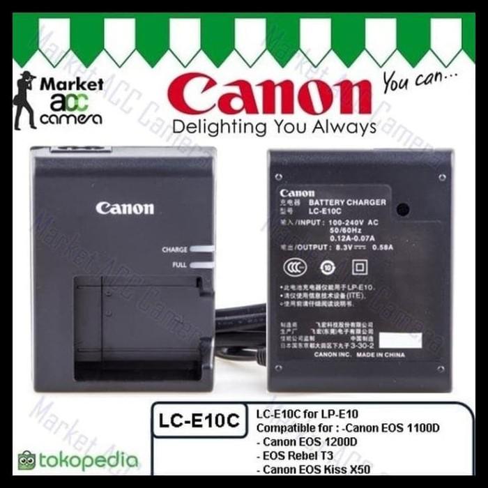 Jual Charger Canon Lc E10c For Lp E10 U002feos 1100d U002f1200d U002frebel Harga Rp 173.000