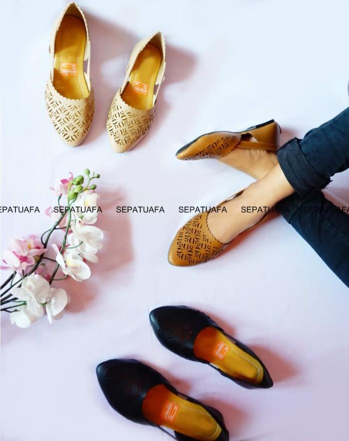 Sepatuafa - Flat Shoes Sepatu Teplek Kirana AS28 - Coklat - Cokelat d685fa3e35