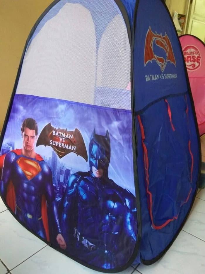 Best Tenda Anak Segitiga Superhero ( Mandi Bola, Camping, Mainan