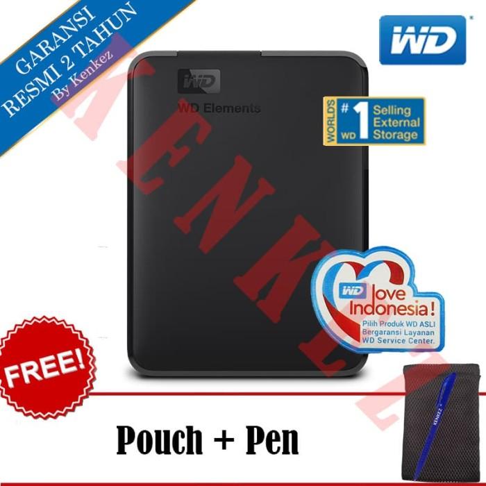 harga Wd elements hardisk eksternal 750gb 2.5  - hitam + pouch + pen Tokopedia.com