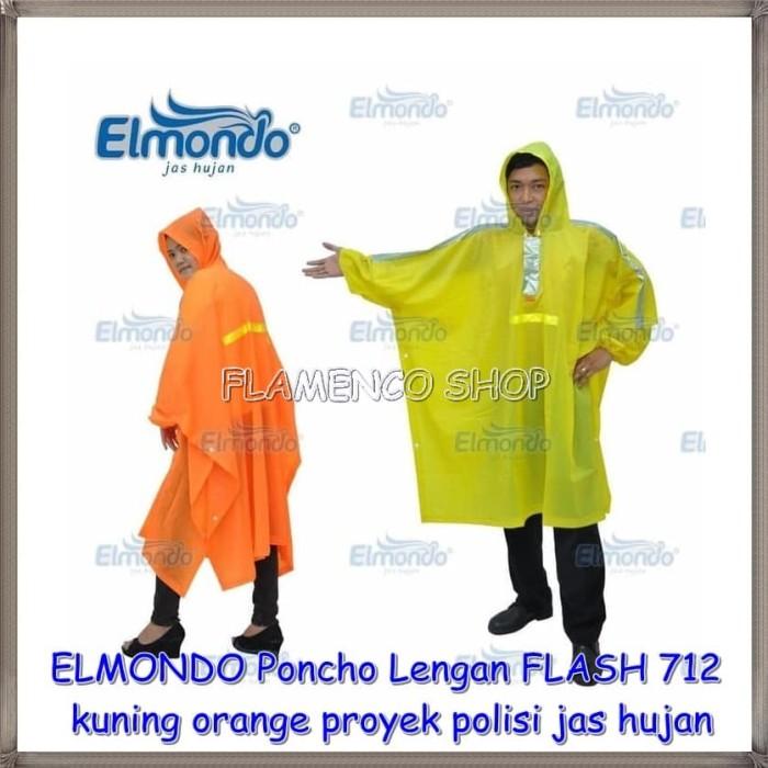 Jas Hujan ELMONDO Poncho Lengan FLASH 712 kuning orange