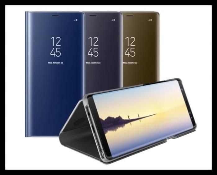 premium selection 775ac 99a82 Jual Samsung Galaxy Note 8 Case Clear View Stand Cover Flipcover Samsung -  - cv pradana shop | Tokopedia