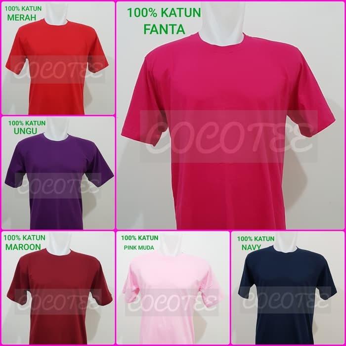 Baju Kaos Kaos Polos Jumbo Size / Big Size Katun Combed 30s Size 4XL /
