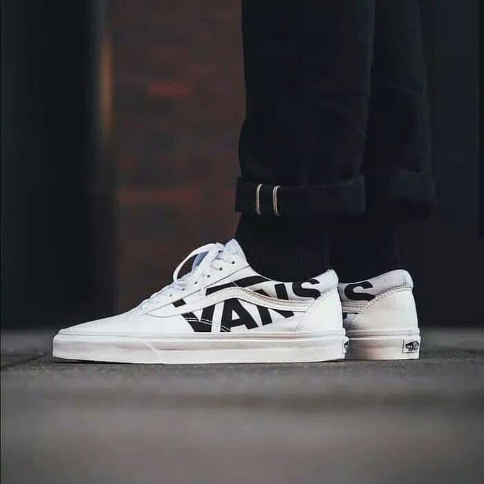 Jual Vans Old skool Big Logo White