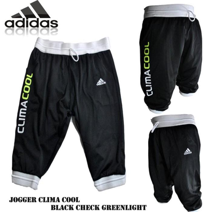 murah Celana jogger climacool black check greenlight mantap