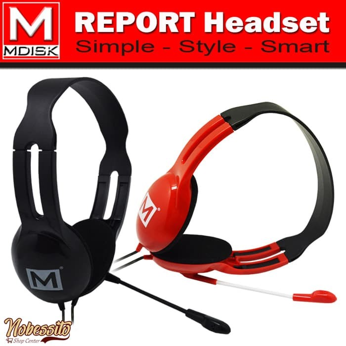Mdisk Report Headset ( J269 ) - Merah