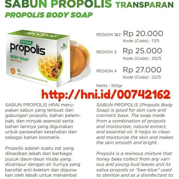 Sabun propolis transparan