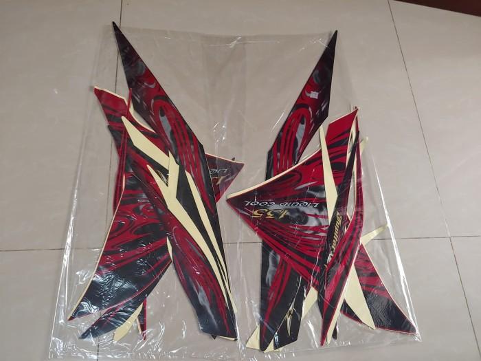 harga Stiker bodi & lis body & striping jupiter mx 2011 merah hitam Tokopedia.com