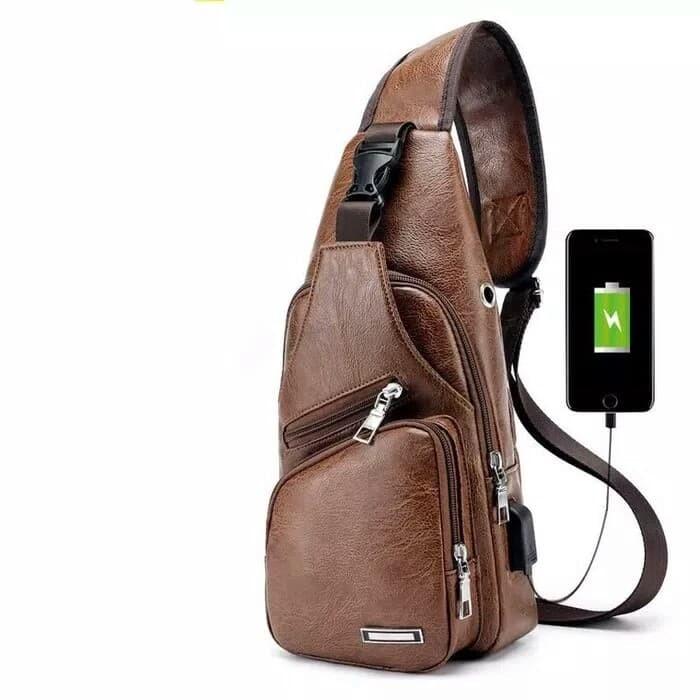 tas kulit pria tas selempang pria import sling bag slempang gadget 8d5f8c42fd