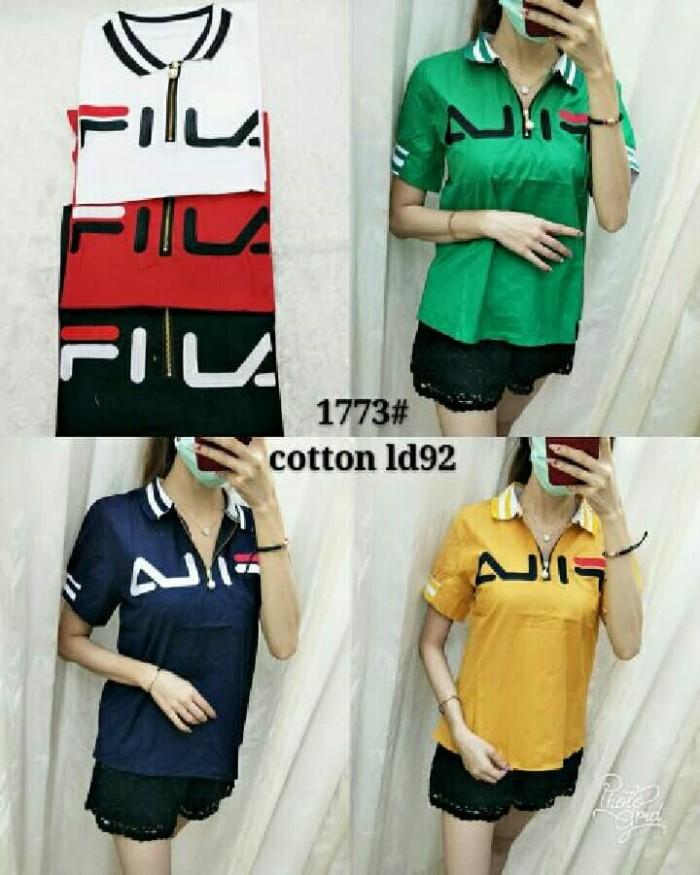 Foto Produk Mj-1773 blouse kerah fila dari Bless-Shopp