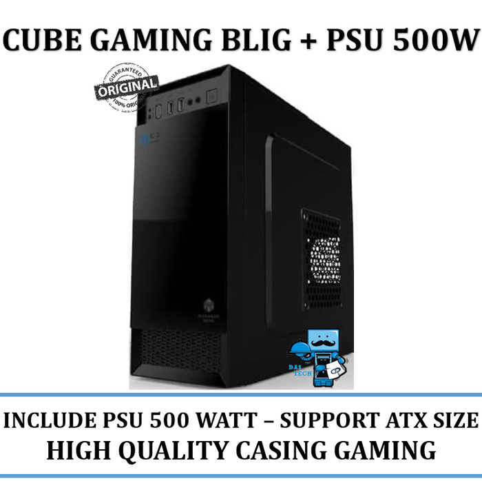 harga Casing cube gaming blig + psu 500w (support atx size) - high quality Tokopedia.com