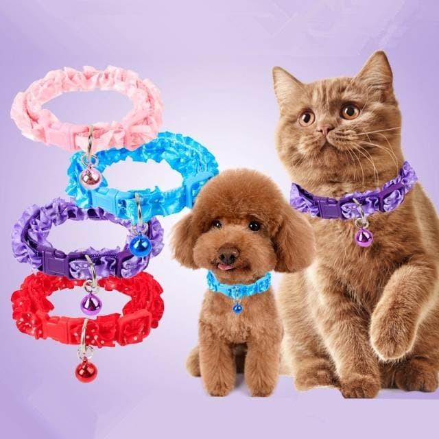 Kalung lonceng anjing kucing musang kelinci cantik pita Toy
