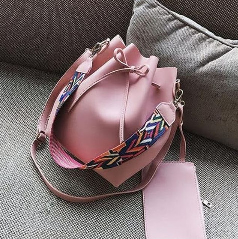 Jual Tas Serut Selempang Polos 2 in 1 Mini Pouch Material PU Leather ... 8a52336500