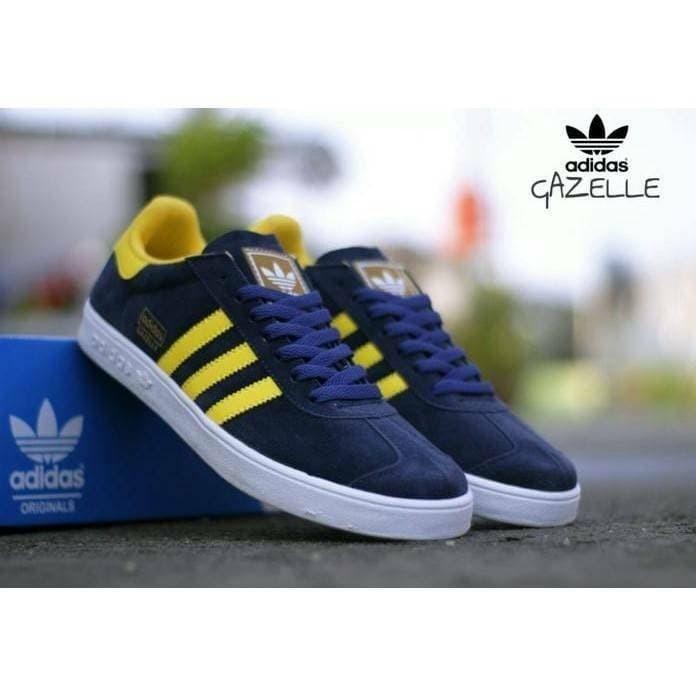 Jual Sepatu Adidas Gazelle Navy Yellow Terbaru Size 40-44 Kualitas ... 7a082d7750