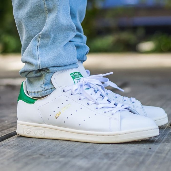 e4bfbea8258215 Jual Adidas Stan Smith OG With Tumbled Leather Running White Green ...