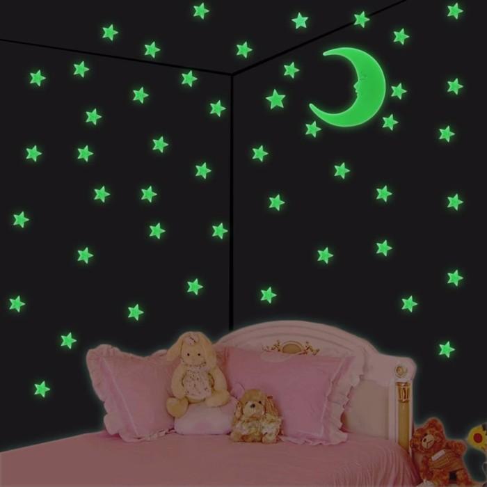 jual 12pcs wall sticker glow in the dark untuk kamar anak bentuk