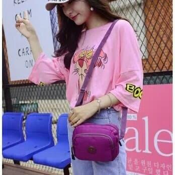 Smile Way Women Nylon sling Bag / Tas Selempang Korea Nilon Wanita