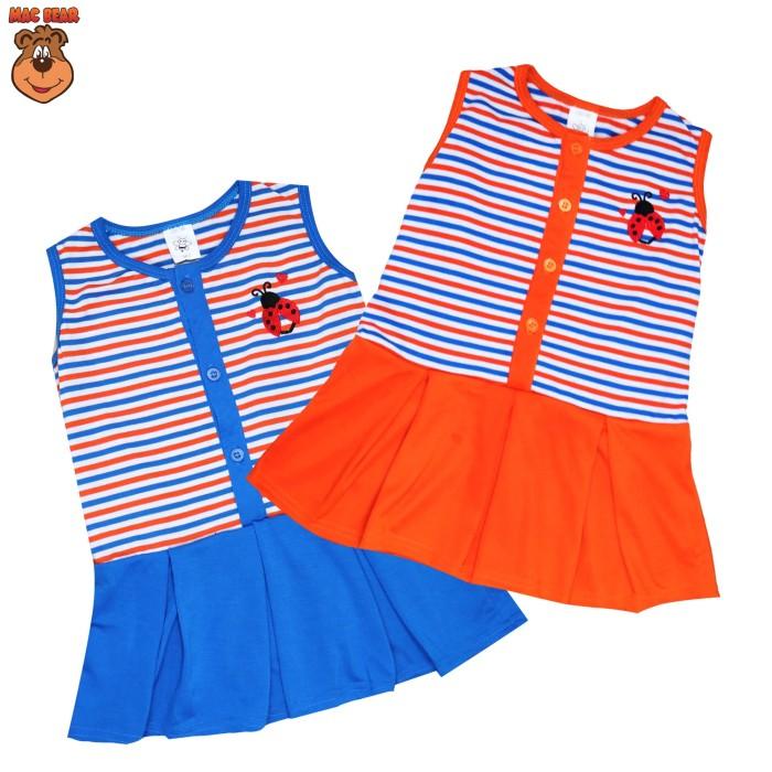 harga Macbee kids baju anak dress stripy beetle - size 5 orange Tokopedia.com