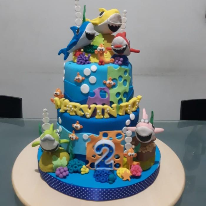 Jual Kue Ulang Tahun Anak Kue Ulang Tahun Baby Shark Birthday Cake Jakarta Barat Bakeeat Tokopedia