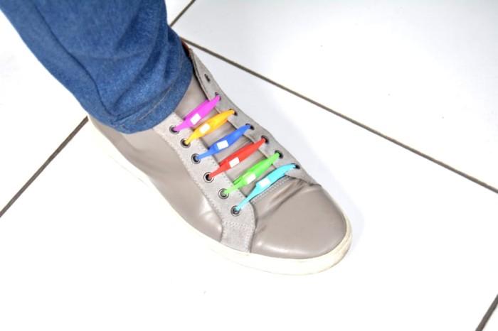 Jual Tali Sepatu Praktis   Easy Shoe Lace - GREEN - AllShop.id ... 903b2b05fc