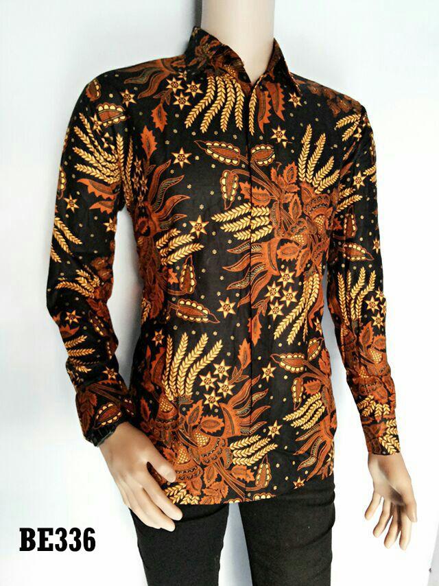 Baju Batik Pria Batik Pekalongan Kemeja Batik Pria Motif Manggar BE336 e0d4973cb2