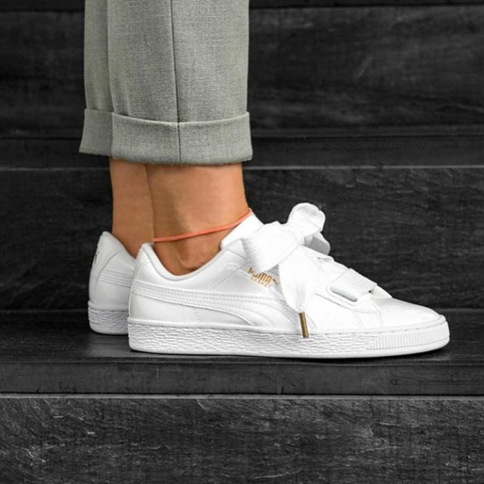 best sneakers 4bfe2 9d447 Jual Puma Basket Heart x Rihanna - Triple White - DKI Jakarta - Shoes  Warehouse Jkt | Tokopedia