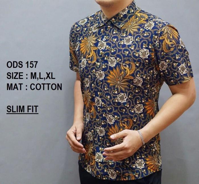 Jual Baju Batik Slimfit Lengan Pendek Pria  0523d780e9