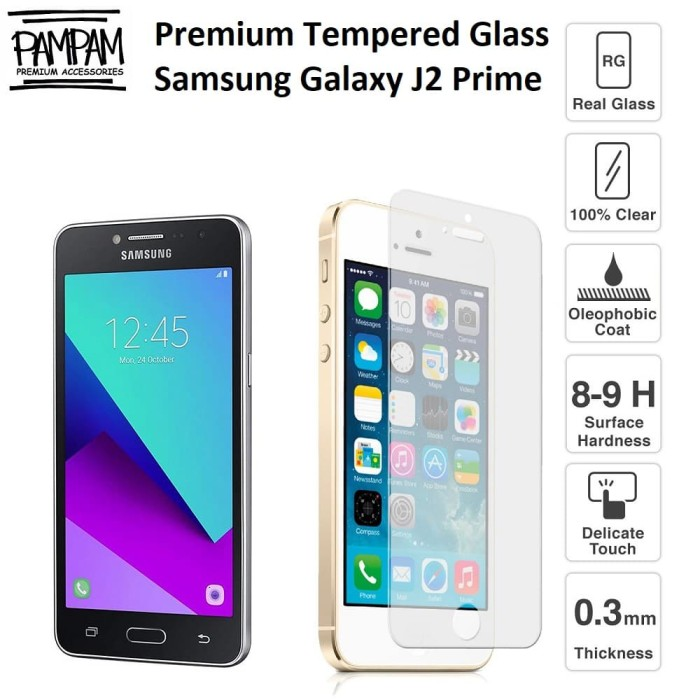 Premium Tempered Glass Samsung J2 Prime G532 Anti Gores Screen Guard
