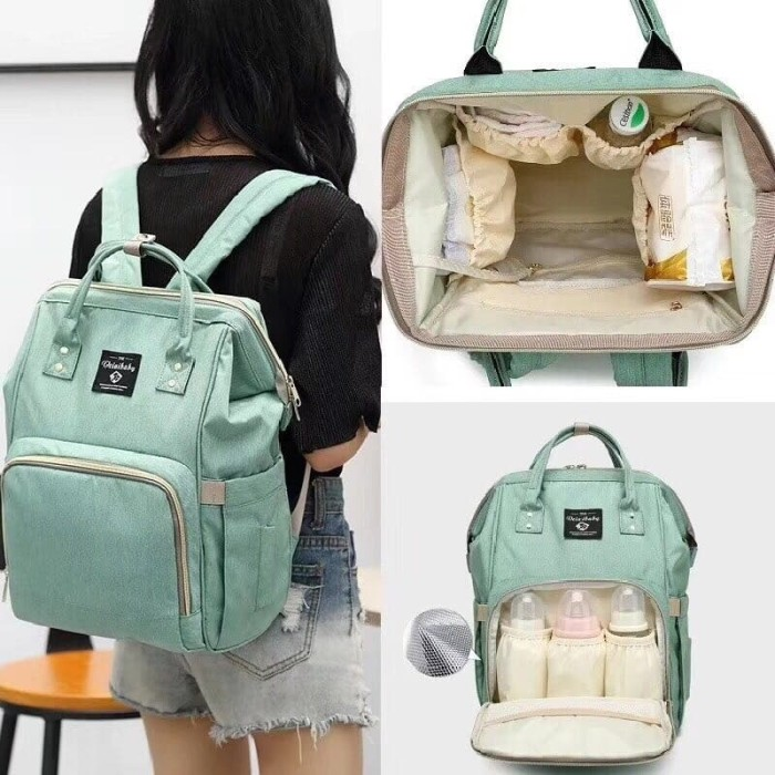 harga Tas Susu Perlengkapan Bayi - Diaper Bag Backpack Mommy Model Anello Blanja.com