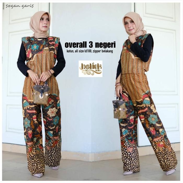 Jual Jumsuit Batik Overall Batik Cokelat M Kota Tangerang Selatan Kaos Karakter Fayshop Tokopedia