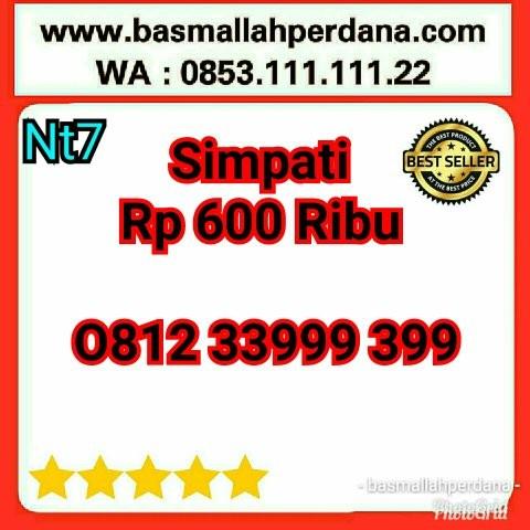Nomor cantik Telkomsel simpati triple 9 999 0812 33999 399 Nt7