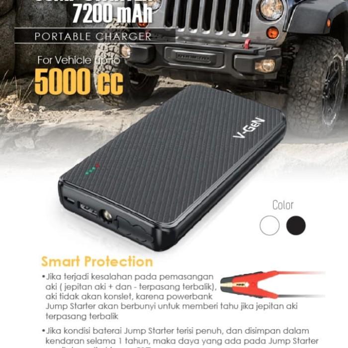 harga V-gen powerbank 7200mah car jumper stater Tokopedia.com