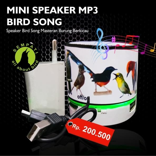 harga Bird song mini speaker player mp3 masteran burung berkicau Tokopedia.com