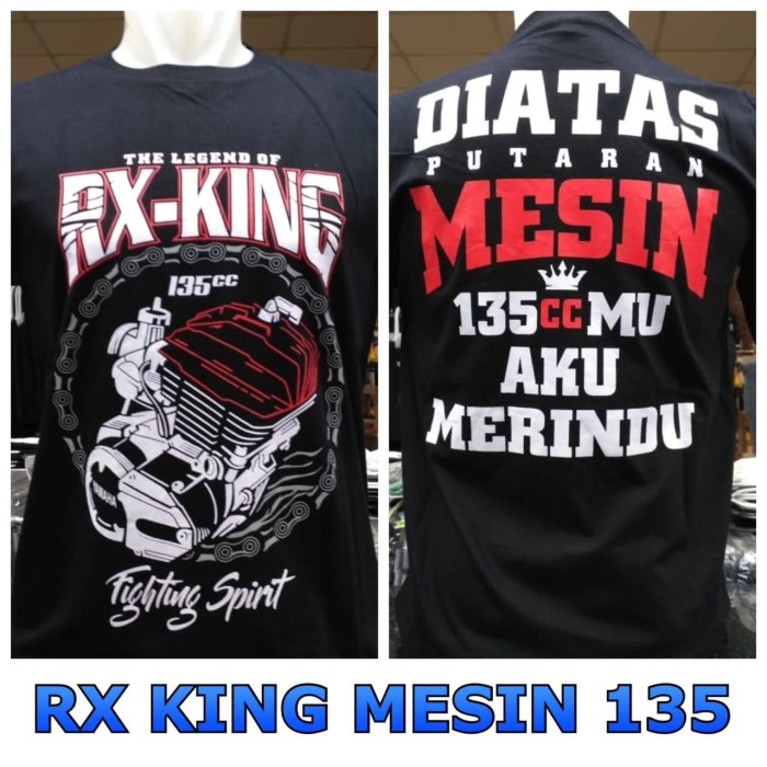 harga Kaos keren rx king simple black distro bangkaos Tokopedia.com