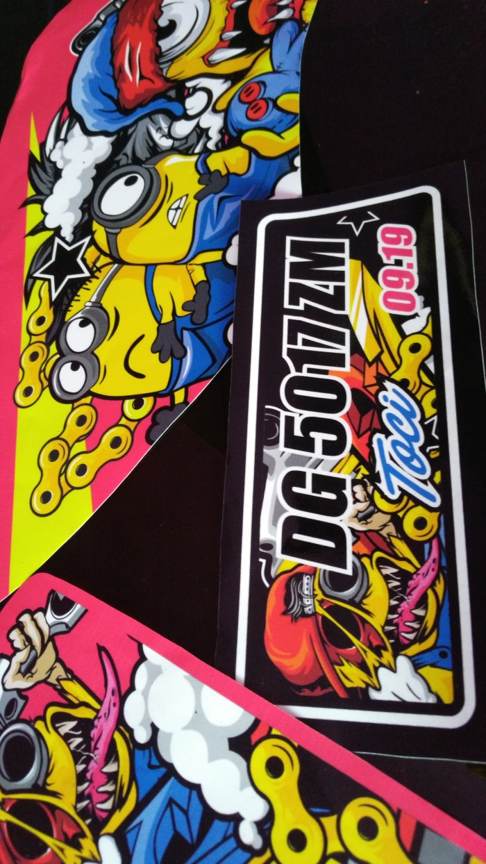 Decal / striping Ninja RR 150 Minion Zombie vector