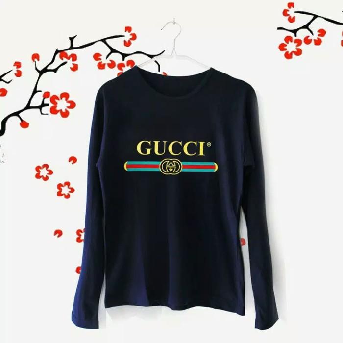 33781ed4 Jual Kaos Lengan Panjang Gucci T-Shirt Tumblr Tee Baju Fashion ...
